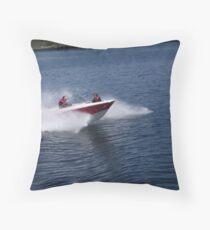 Speedboat! Throw Pillow