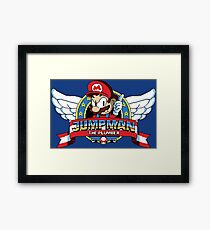 Jumpman The Plumber Framed Print