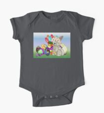 Bunny with lots of chocolate eggs Kids Clothes