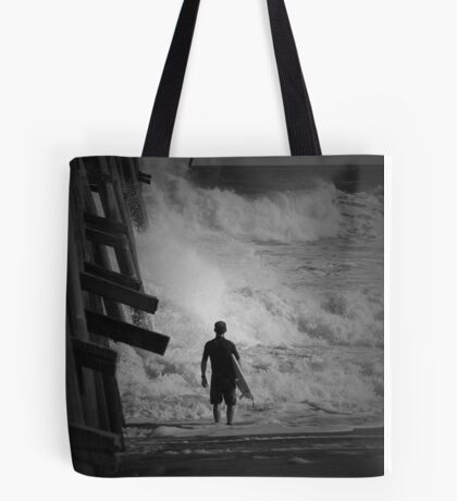 Waiting For A Lull Tote Bag
