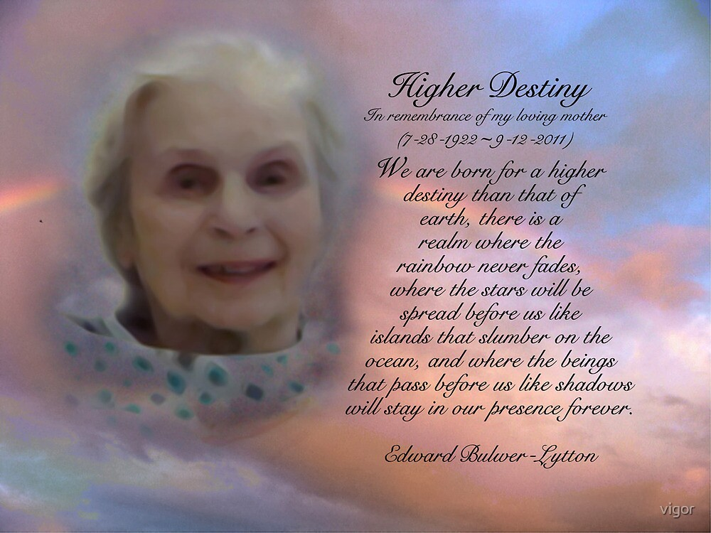 In Loving Memory Of My Mom Par Vigor Redbubble