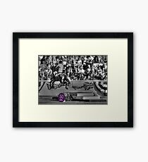 A Skittish Leap Earns 50 Points! Framed Print