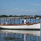 White Electra at the Buffalo Maritime Center's Small Craft Festival by Ray Vaughan