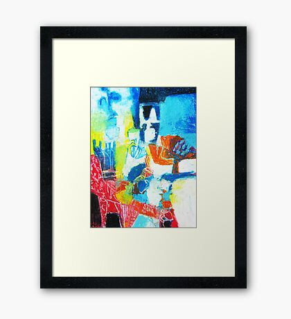 room with red chair Framed Print
