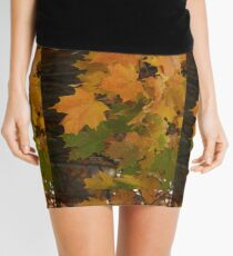 Fall Leaves iPhone case Mini Skirt