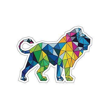 geometric lion by SAMGLICK