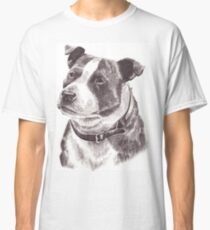 Staffordshire Bull Terrier in Pencil Classic T-Shirt