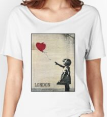 Banksy's Girl with a Red Balloon III Women's Relaxed Fit T-Shirt