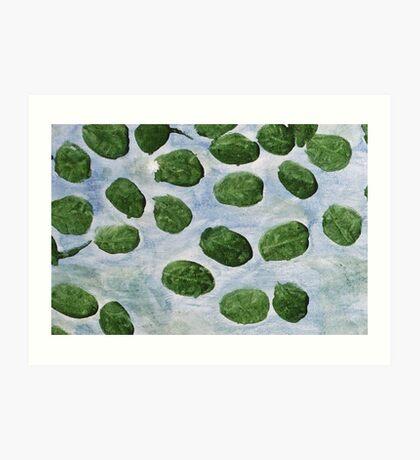 Impression Lilly Pads Art Print