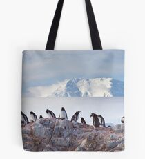 The Creche (Gentoo Penguins, Port Lockroy, Antarctica) Tote Bag