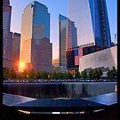 New York 911 Memorial Sunset by Peter Bellamy