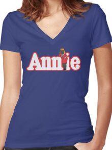 Little Orphan Annie Skywalker Women's Fitted V-Neck T-Shirt