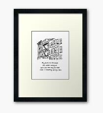 There Is Something Burning In There Framed Print