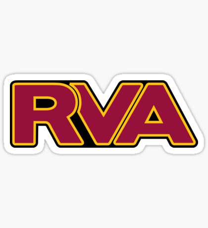 RVA Maroon and Yellow Sticker