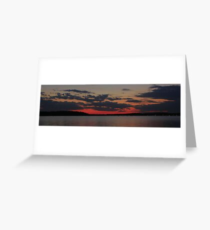 SunSet on Lake D'Arbonne Greeting Card