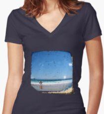 Sand & Surf - TTV Women's Fitted V-Neck T-Shirt