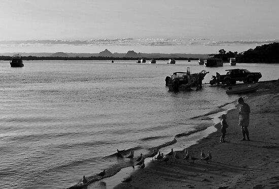 Bribie Island at sunset. Queensland, Australia.  by Ralph de Zilva
