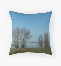 blue meditaton... Throw Pillow