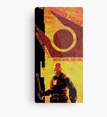 Half Life Metro Police Propaganda  Metal Print