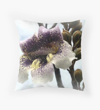 Paulownia in Bloom Throw Pillow