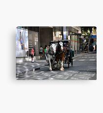 Melbourne City Streetscape Canvas Print