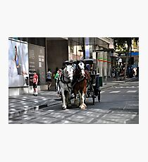 Melbourne City Streetscape Photographic Print