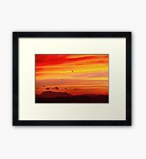 monochrome sunset Framed Print