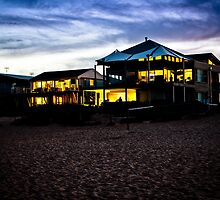 Wamberal Beach houses at Night by John Buxton