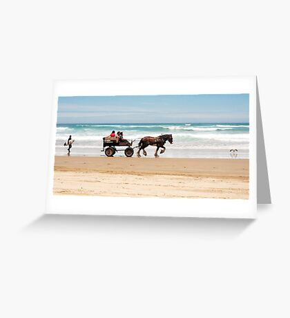 Clip Clop - horse rides on the beach Greeting Card
