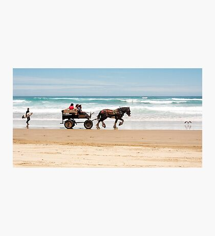 Clip Clop - horse rides on the beach Photographic Print