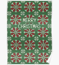 Knitted Christmas jacquard Poster