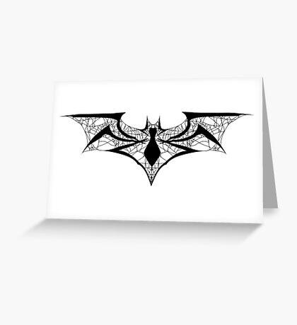 Spider-Bat Greeting Card