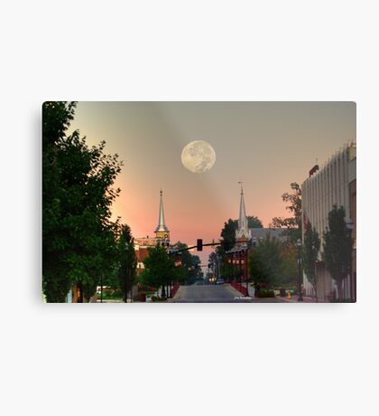 Moon over McMinnville Metal Print