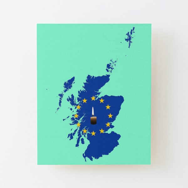 Leave a Light on for Scotland Wood Mounted Print