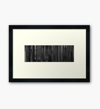 Moviebarcode: Dr. Strangelove or: How I Learned to Stop Worrying and Love the Bomb (1964) Framed Print