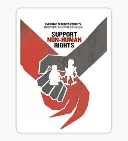 "DISTRICT 9 ""Support Non-human rights"" Sticker"