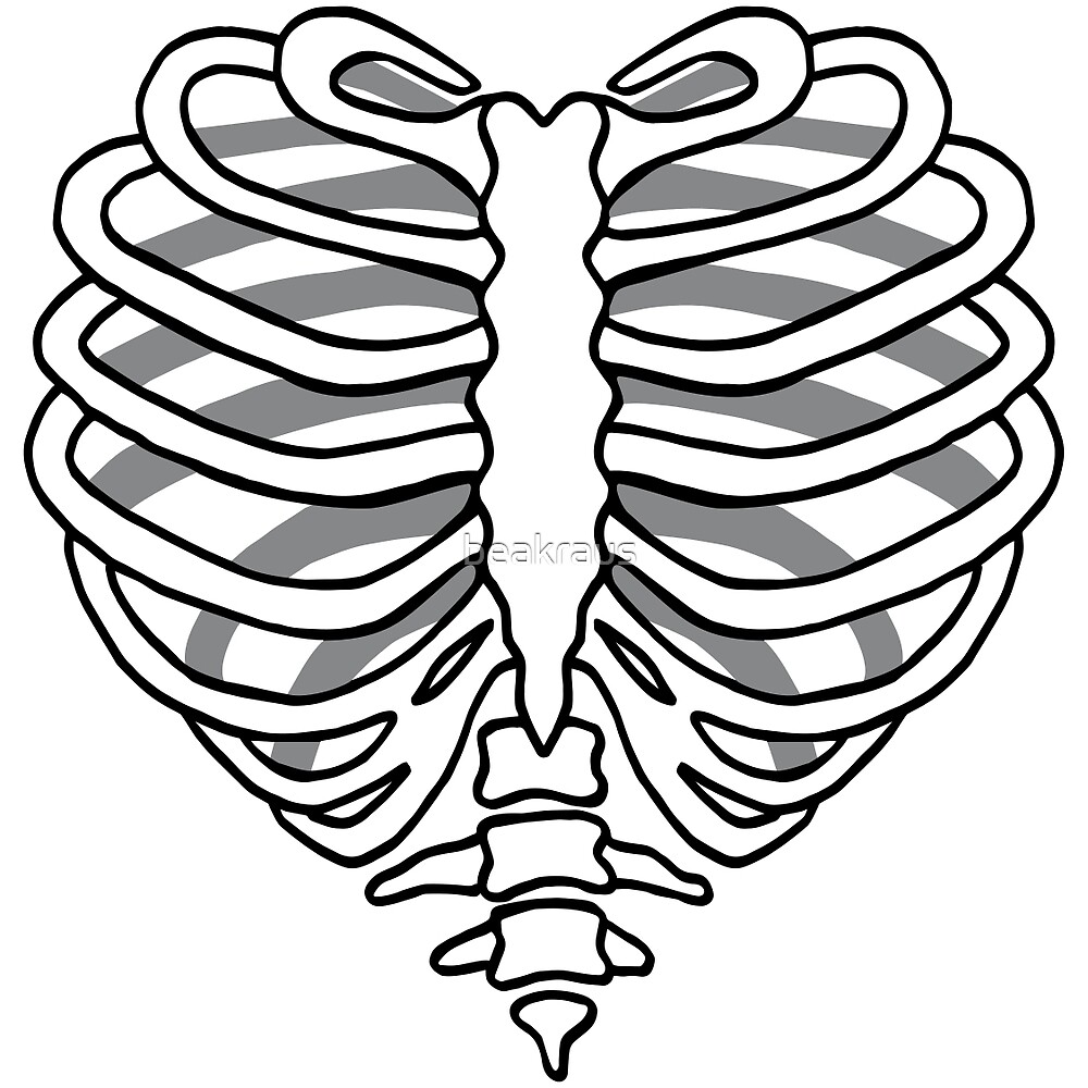 Quot Skeleton Rib Cage Heart Quot By Beakraus Redbubble