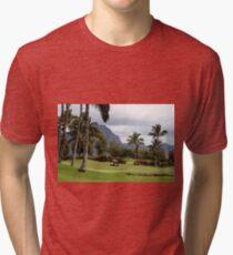 Poipu Bay Golf Course, Kauai, Hawaii Tri-blend T-Shirt