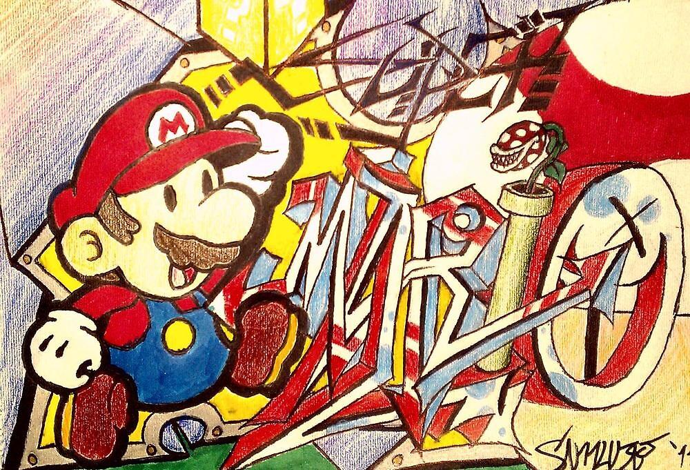 Super Graffiti Mario by Ryuri-Neko