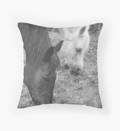 The Favorite Horse Position Throw Pillow