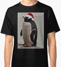 Merry Christmas Mr Penguin Classic T-Shirt