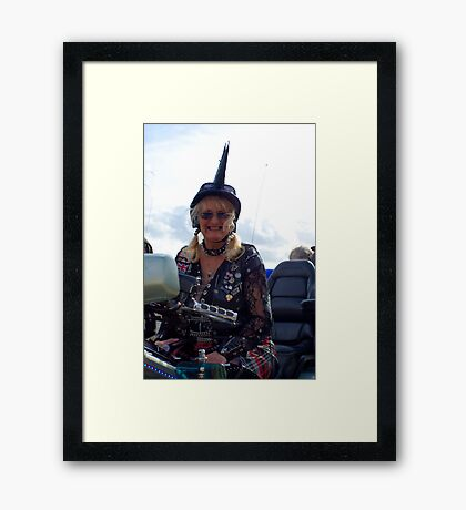 Gold Wing Gothic Framed Print