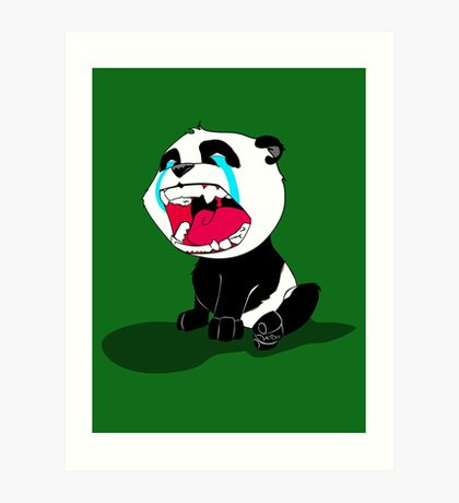 Crying Panda Cub Art Print