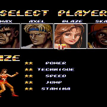 Streets of Rage 2 – Select Blaze by PonchTheOwl