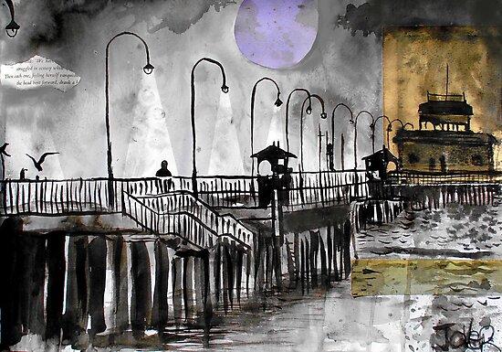 i walked along St Kilda Pier by Loui  Jover