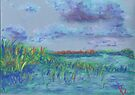 Clouds and Water, Grass and Sky (pastel) by Niki Hilsabeck