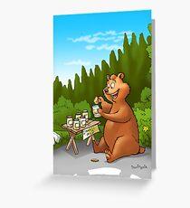 A very very happy bear Greeting Card