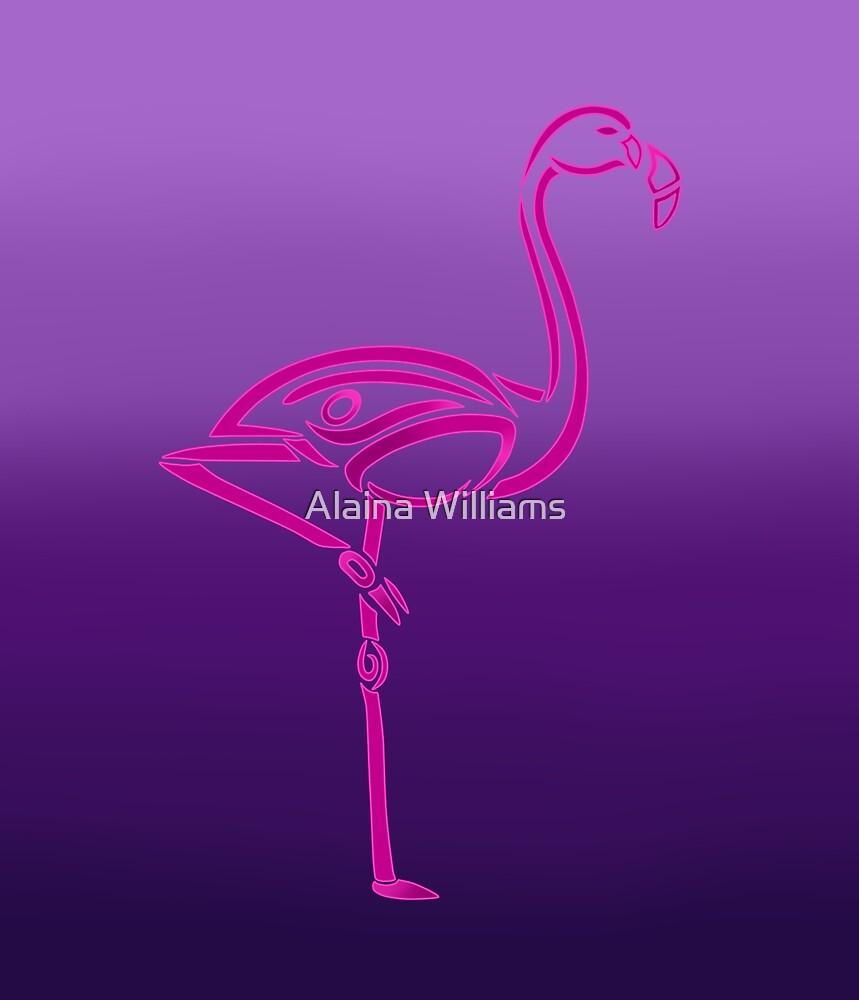 Flamingo Tribal Design by Alaina Williams