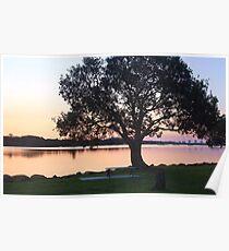 tweed river dusk ... Poster