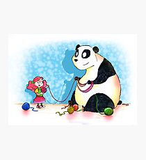 Panda is our friend Photographic Print